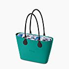O bag urban blue grass black detail