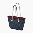 O bag urban matelassé navy blue and bordeaux