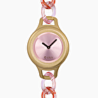 O click shift chain pink and gold