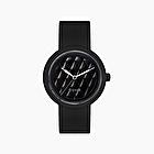 O clock black texture matelassè graphite