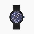 O clock black silver leaf