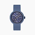 O clock blu capri silver leaf