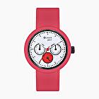 O clock great satèn rojo sobre negro