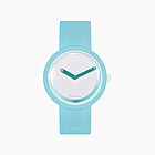 O clock light blue with glossy mirror dial