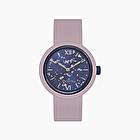 O clock viola pastello silver leaf