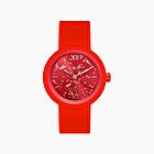 O clock red silver leaf