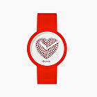 O clock rot mit Uhrwerke sparkling Herz