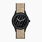 O clock shift gold glitter matelasse