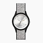 O clock shift silver glitter crystal