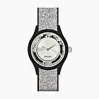 O clock shift silver glitter shiny crystal