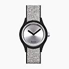 O clock shift silver glitter soleil