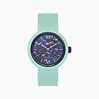 O clock turquoise silver leaf
