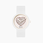 O clock white with sparkling hearts dial