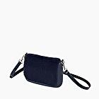 O pocket navy blue eco fur
