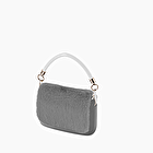 O pocket silver with eco fur flap