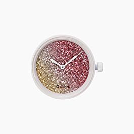 Meccanismo glitter bicolor cedro e coral O clock
