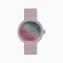 O clock viola pastello glitter bicolor amaranto e petrolio